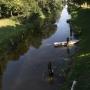 Kanał Augustowski - widok z mostu na Śluzie Borki