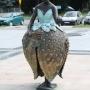 Korycin - Rzeźba Księżniczki Truskawki naOdnowionym Rynku