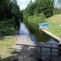 Kanał Augustowski - Śluza Swoboda, widok na kanał w kierunku zachodnim