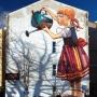 "Mural ""Folk on the street"""
