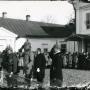 Ogłoszenie Aktu 5 listopada przed pałacem Ogińskich w Siedlcach