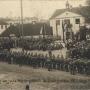 22 lutego 1919r przed budynkiem ówczesnej drukarni odbyła się msza polowa w wolnym już Białymstoku. Ze zbiorów J. Murawiejskiego.