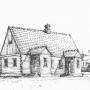 Drewniana bóżnica chasydzka z końca XIX wieku, która znajdowała na tykocińskiej kolonii Kaczorowo.