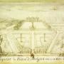 Założenie pałacowe wg. oryginalnego rysunku Pierre Ricaud de Tirregaille.