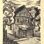 Pocztówka, drzeworyt wydana nakładem Miłośników Historii, Literatury i Sztuki w Białymstoku przedstawiająca dom Zamenhofa. Autorem cyklu grafik prezentujących zabytki miasta (dom Zamenhofa był jednym z nich) był białostocki artysta Czesław Sadowski (1902- 1959)