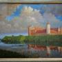Tak według malarza mógłby wyglądać tykociński zamek za panowania Zygmunta Augusta. Obraz namalowany przez Józefa Łotowskiego w 1979r możemy obejrzeć w Muzeum Wojska w sali