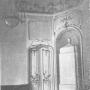 Fragmenty dekoracyjne pałacu. Drzwi z boazerią. Foto :