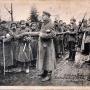 Scena rozdziału chleba pomiędzy rosyjskich jeńców odbyła się w Augustowie podczas przemarszu w 1915-1917r.