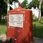 Pratulin - Pomnik żołnierzy sowieckich przy murze cmentarnym