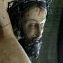 Ukrzyżowany Chrystus-fragment z kruchty kościoła.