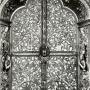 Carskie wrota wykonane jak i cały ikonostas w połowie XVIIw, charakteryzują się szczególnie wyszukanym detalem. Zdjęcie z reprodukcji zrobione dzięki uprzejmości Duszpasterzy z Monasteru.