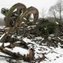 Pietrusy - ruiny niedawno jeszcze stojącego wiatraka