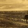 Panorama Grajewa z widoczną z prawej strony cerkwią św. Marii Magdaleny. Z lewej strony w oddali kościół p.w. Św. Trójcy. Pocztówka z ok.1916r.
