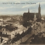 Ładnie podkolorowana pocztówka ul. Bazarnej(Rynek Kościuszki) z widokiem na Katedrę p.w. NMP. Pocztówka wydana około 1914 roku.Ze zbiorów J. Murawiejskiego.