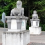 Sfinksy przed nieistniejącym pałacem księżnej Jabłonowskiej.